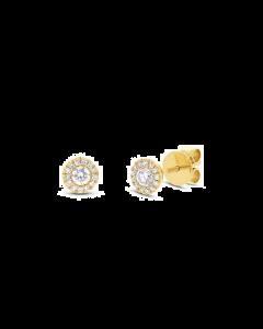 14K 0.24ct Yellow Gold Diamond Stud Earring
