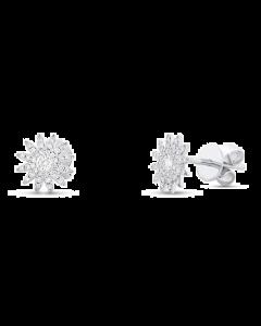 14K 0.24ct White Gold Diamond Stud Earring