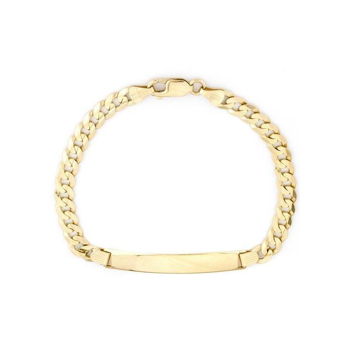 "14K Yellow Gold 8.25"" Men's Id Bracelet"
