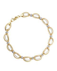 14K 2T Hollow Fancy Bracelet