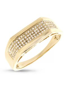 14KYG 0.24CT DIAMOND MAN'S RING - Size 10