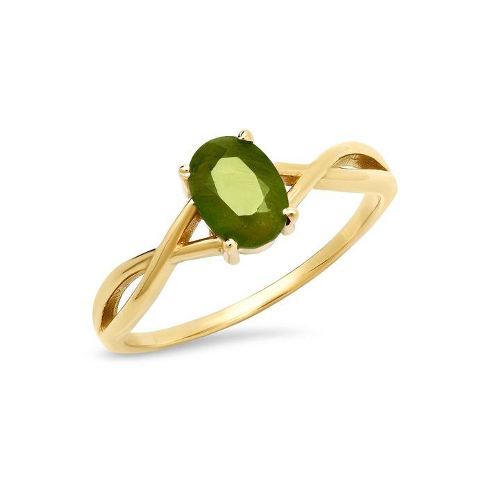 14K Yellow Gold August Birthstone Ring