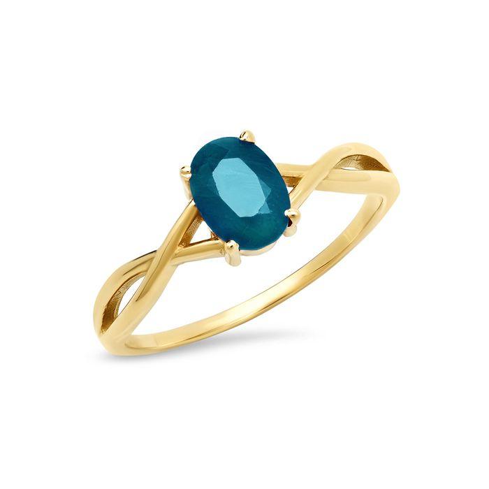14K Yellow Gold December Birthstone Ring