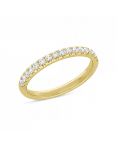 14K 0.55ct Yellow Gold Diamond Ring Lady's Band