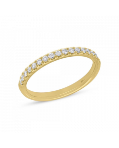 14K 0.40ct Yellow Gold Diamond Ring Lady's Band
