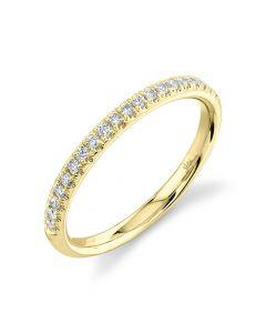 14K 0.18CT Yellow Gold Diamond Lady'S Band