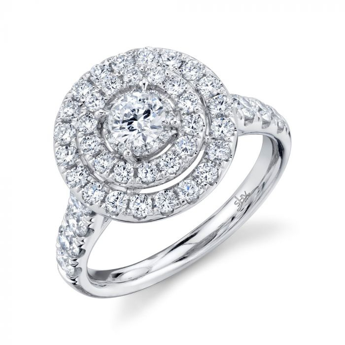 14K 1.50CT W/G Round Diamond Engagement Ring