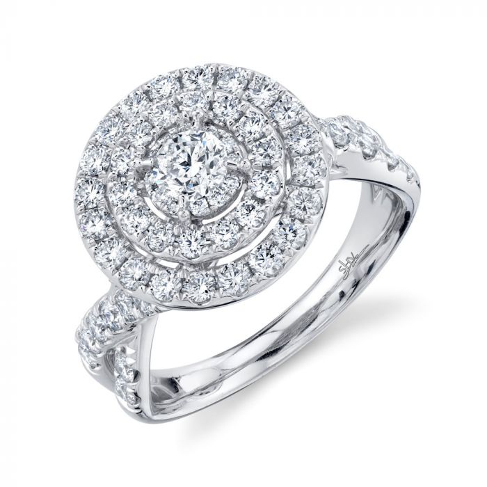 1.50CT 14K White Gold Round Diamond Engagement Ring