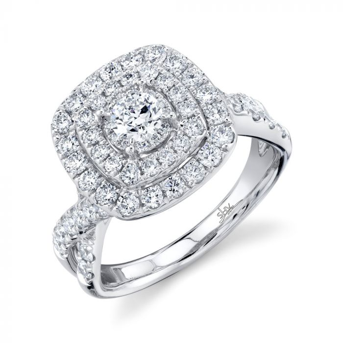 14K 1.50CT Round Diamond Engagement Ring White Gold