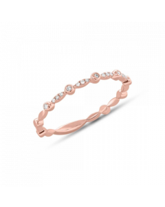 14K 0.06ct Rose Gold Diamond Lady's Band