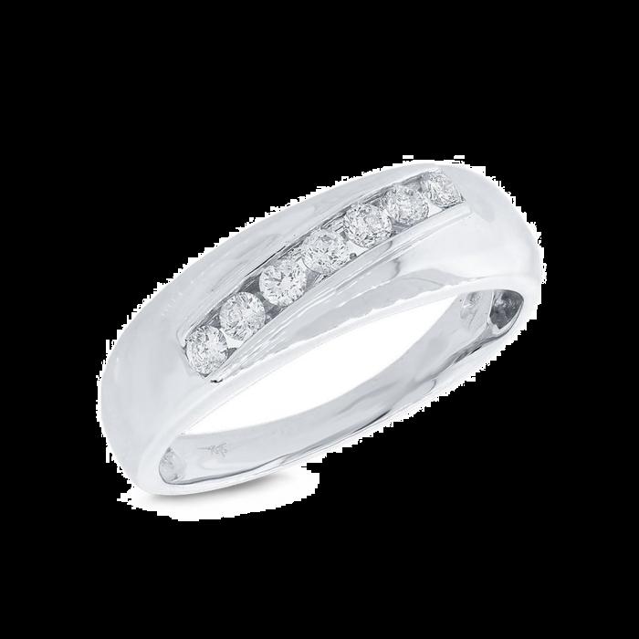 14K Wg 0.37Ct Diamond Men's Ring