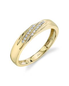 14K 0.08CT Yellow Gold Diamond Men's Band