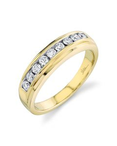 14K 0.55CT Yellow Gold Diamond Men's Band