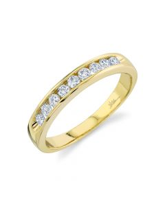 14K 0.51CT Yellow Gold Diamond Men's Band