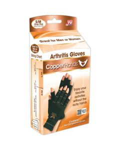 As Seen on TV Copper Hands Arthritis Compression Gloves - Small/Medium