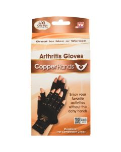 As Seen on TV Copper Hands Arthritis Compression Gloves - L/XL