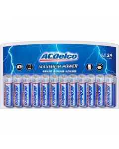 Acdelco AA Maximum Power Alkaline Value Battery - 24 Pack