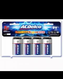 Acdelco 9V Maximum Power Alkaline Retail Battery - 4 Pack