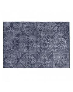 "Harmar Vinyl Placemat Wipes Rectangle Linnea Rib 13""x19"" - Tile Navy"