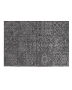 "Harmar Vinyl Placemat Wipes Rectangle Linnea Rib 13""x19"" - Tile Black"