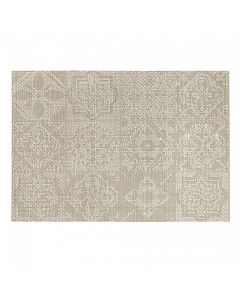 "Harmar Vinyl Placemat Wipes Rectangle Linnea Rib 13""x19"" - Tile Champagne"