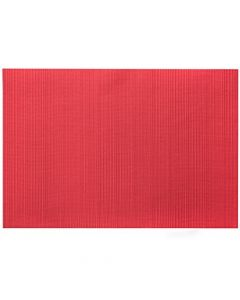 "Harmar Vinyl Placemat Wipes Rectangle Linnea Rib 13""x19"" - Ribbed Red"