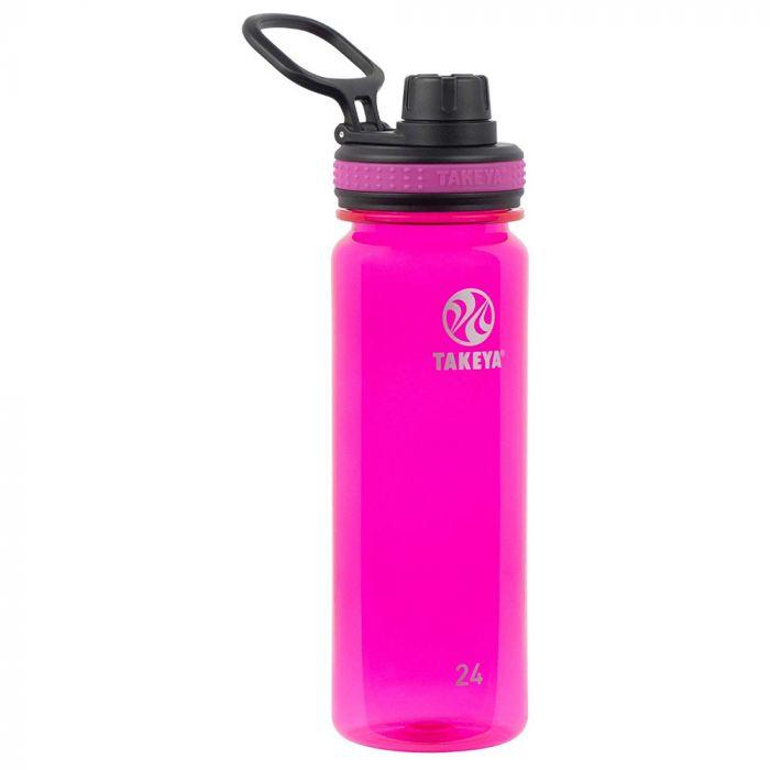 Takeya Tritan Sports Water Bottle with Spout Lid - Fuchsia