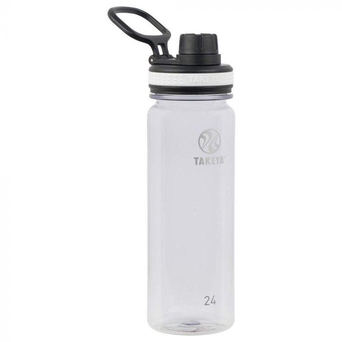 Takeya Tritan Sports Water Bottle with Spout Lid - Clear