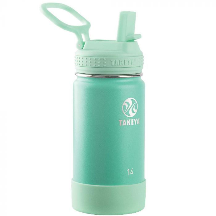 Takeya Actives 14 oz Kids Insulated Stainless Steel Water Bottle - Green