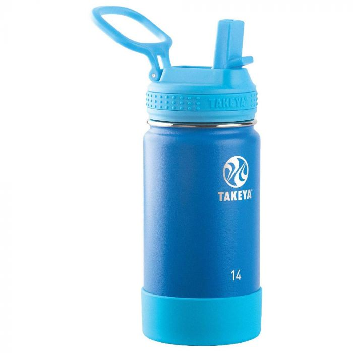 Takeya Actives 14 oz Kids Insulated Stainless Steel Water Bottle - Sky