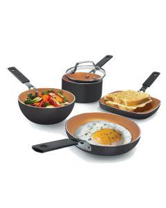 As Seen On TV Gotham Steel Stackmaster Nonstick Aluminum 5-Piece Cookware Set
