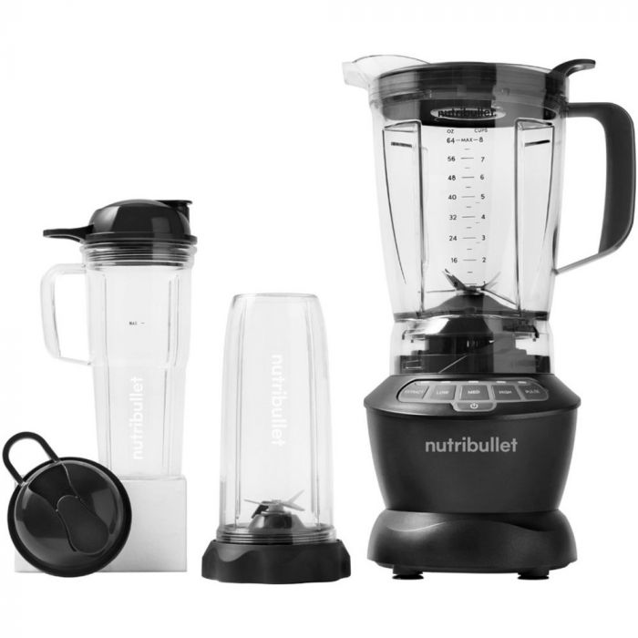 NutriBullet 1200 Watt Blender Combo with Single Serve Cups - Dark Grey