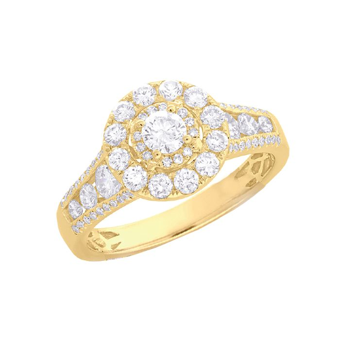 14K Yellow Gold 1.22 ct Diamond Engagement Ring