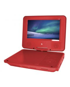 Ematic Personal DVD Player with 7-Inch Swivel Screen - Headphones - Carrying Case - Red