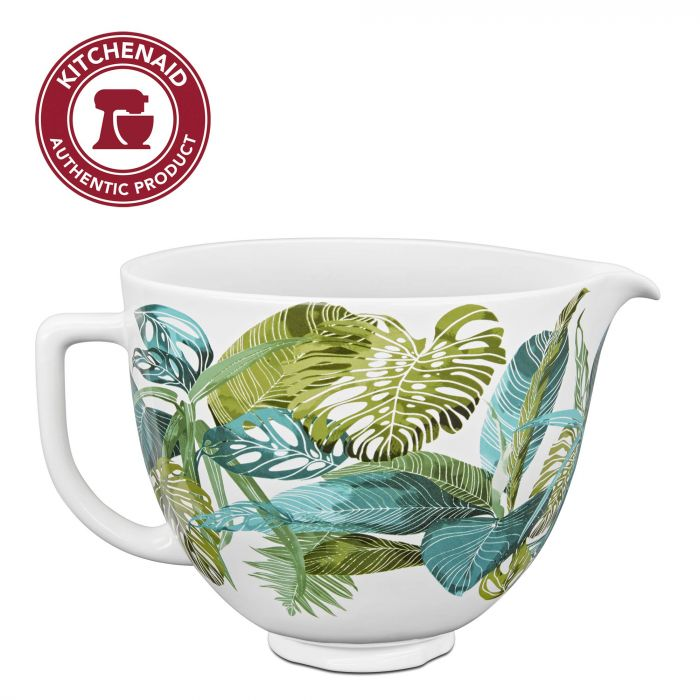 KitchenAid KSM2CB5PTF Accs Portable Appliance Stand Mixer Bowl - 5 quart - Tropical Floral Ceramic
