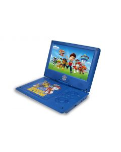 Ematic Nickelodeons Paw Patrol Theme Portable DVD Player with 9-Inch Swivel Screen - Travel Bag and 2 Sets of Headphones - Blue