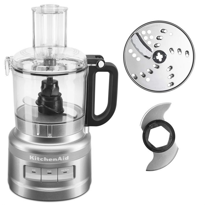 KitchenAid KFP0718CU Food Processor - 7 Cup - Contour Silver