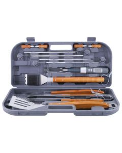 Mr. Bar-B-Q 12-Piece Tool Set with Bonus Thermo Fork