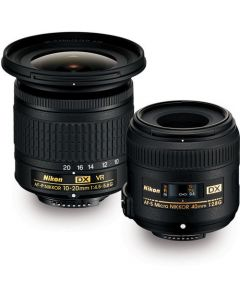 Nikon Landscape and Macro 10-20mm f/4.5-5.6 and 40mm f/2.8 Two Lens Kit