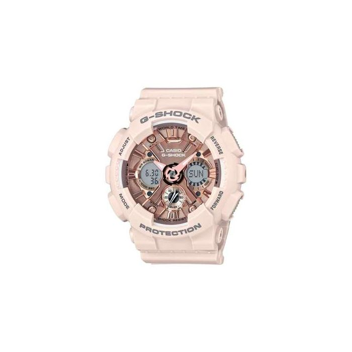 Casio G-Shock Women's S-Series Analog-Digital Resin Strap Watch - Pink