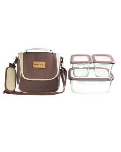 Lunch Bag with 3-Piece Food Containers