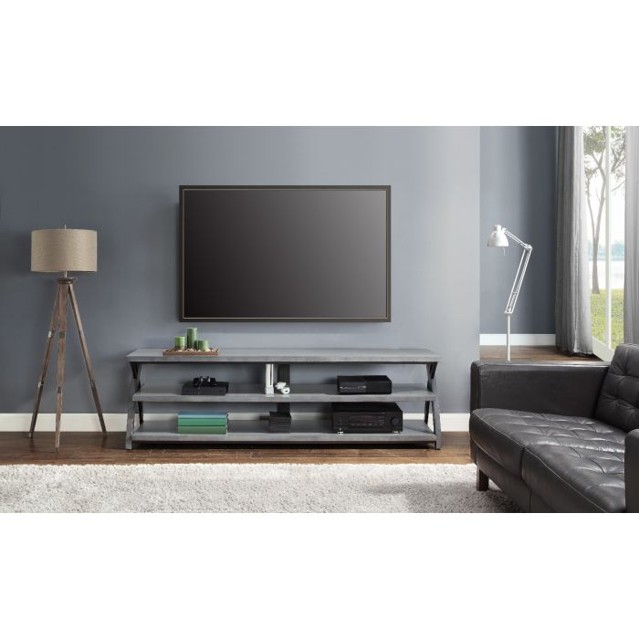 """Whalen Up To 90"""" TV Console Gray"""