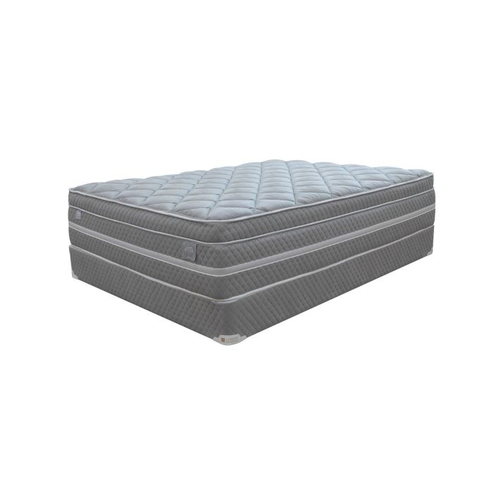 Comfort Bedding  Grey Hybrid 14 inch Mattress Set - Queen