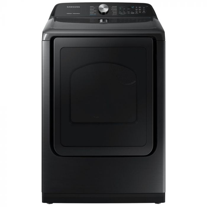 Samsung DVG50R5400V 7.4 Cu. Ft. 12-Cycle Gas Dryer with Steam - Fingerprint Resistant Black Stainless Steel