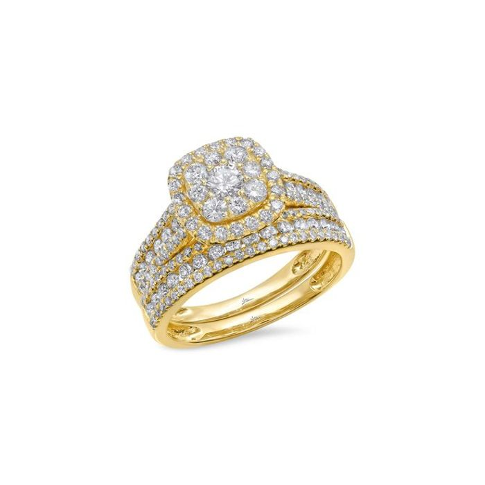 14K Yellow Gold 1.46 ct Diamond Wedding Set