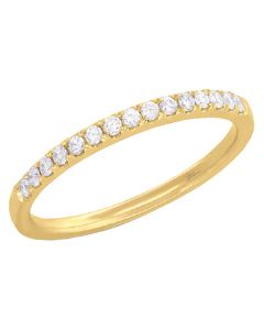14K Yellow Gold 0.18 ct Diamond Lady's Band