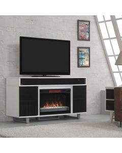 """Enterprise 56"""" TV Stand with Fireplace and Soundbars"""