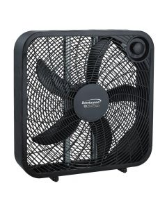 "Brentwood KoolZone 20"" Slim Box Fan- Black"