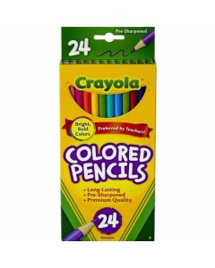 Crayola Long Barrel Colored Woodcase Pencils - 24 Count