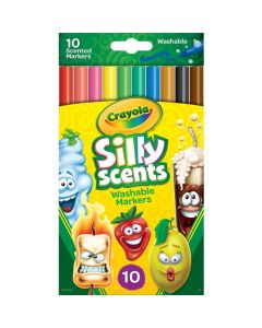 Crayola Silly Scented Washable Fineline Markers - 10 Count